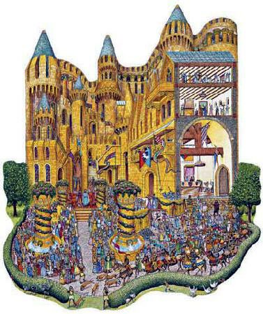 royal festival castle shaped jigsaw puzzle fx schmid fantasy details 1000 pieces great shaped puzzle royalfestival