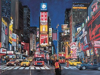 times square glow in the dark jigsaw puzzle made by fxshmid painted by kenkeeley timessquare