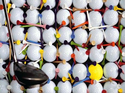 ultra challenge 1000 piece puzzle golf balls titled singled out by fx schmidt singledout