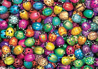 high quality jigsaw puzzle by fx schmid ultra challenge series lots of ladybugs lots-of-ladybugs-ultra-challenge-puzzle