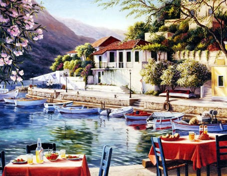 greek harbor jigsaw puzzle, clementoni 2000 pieces greekharbor