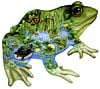 frog shaped painting by janet skiles, fx schmidt jigsaw puzzles
