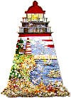 theguidinglight,lighthouse shaped puzzle, fx schmidt jigsaw puzzle 1000 pieces