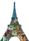 eiffeltowercomo,eiffel tower shaped jigsaw puzzle by gerold como with fx schmid 1000 pieces