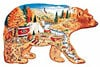 bear country fx schmid puzzle, bear puzzle, 1000 pieces jigsaw shaped puzzle
