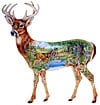 whitetailedtale,fxschmid shaped puzzle series white-tailed take, janet skiles 1000 piece puzzles