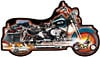 accelerate fx schmid shaped puzzle, 1000 pieces, jigsaw puzzle shaped like a motorcycle