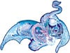 icedragon,3feet wide ice dragon puzzle, 1000 pieces sally j smith artwork, shaped puzzle dragon fx schmid