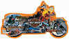 motorcycle shaped jigsaw puzzle, 1000 pieces fxschmid puzz, harley davidson jigsaw