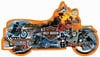 itstimetoride,motorcycle shaped jigsaw puzzle, 1000 pieces fxschmid puzz, harley davidson jigsaw