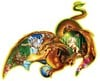 earth-dragon-puzzle,jigsaw puzzle by fx schmidt, earth dragon shaped puzzle, 1000 pieces puzzle, michaelserle