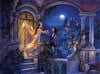 romeo and juliet shakespeare blacony scene jigsaw puzzle painting by twyford