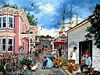 seacove village painting fx schmid jigsaw puzzle, 2000 pieces