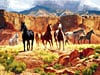 canyon horses painting, fx schmid jigsaw puzzle, 2000 pieces