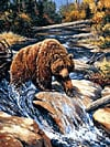 jigsaw puzzle of a grizzly bear, linda picken painting puzzle, 2000 pieces Puzzle
