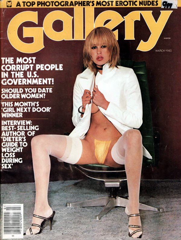 Gallery March 1980 magazine back issue Gallery magizine back copy gallery march 19980 used  back issue magazine, girls next door, us government articles, corrupt offi