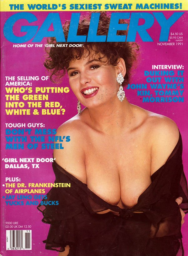 Gallery November 1991 magazine back issue Gallery magizine back copy gallery magazine back issues, nude women pictorial, erotic funny cartoons, political articles,  1991