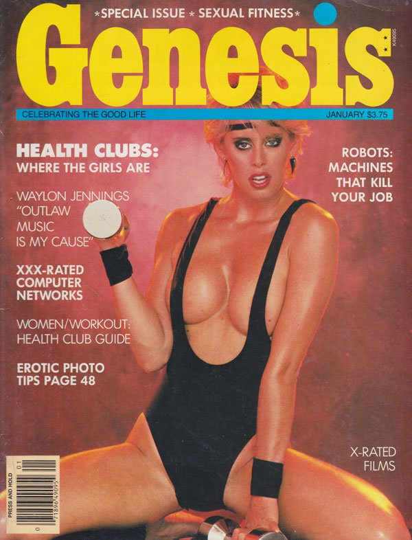 Genesis January 1984 magazine back issue Genesis magizine back copy 1984 back issues of xxx magazine genesis xxx-rated computer erotic photo tips skin flick reviews hor