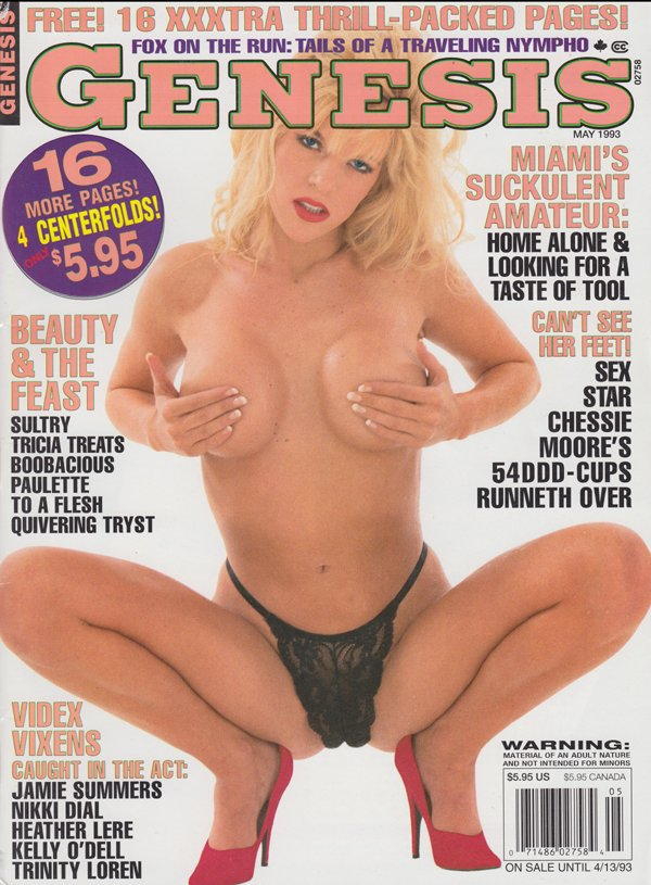 Genesis May 1993 magazine back issue Genesis magizine back copy fox on the run tails travelling nympho miami suckulent amateur sulty tricia boobalicious jamie summe