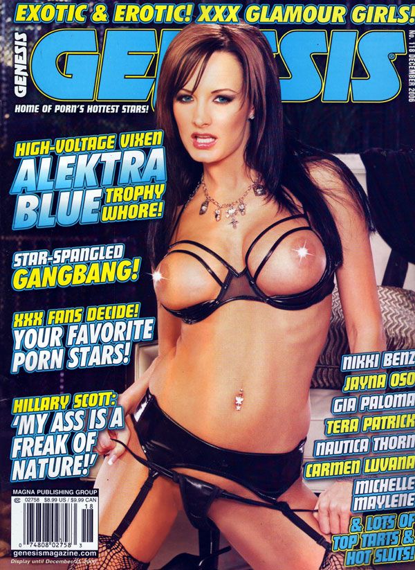 Genesis # 118 - December 2006 magazine back issue Genesis magizine back copy genesis magazine, exotic & erotic, xxx glamour girls, tales of porn, f.a.m.e. awards, sex stars, ter