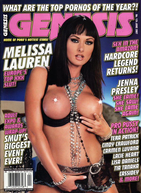 Genesis # 124 - June 2007 magazine back issue Genesis magizine back copy genesis magazine june 2007, home of porn's hottest stars, hardcore legend returns, amazon sex, smut'