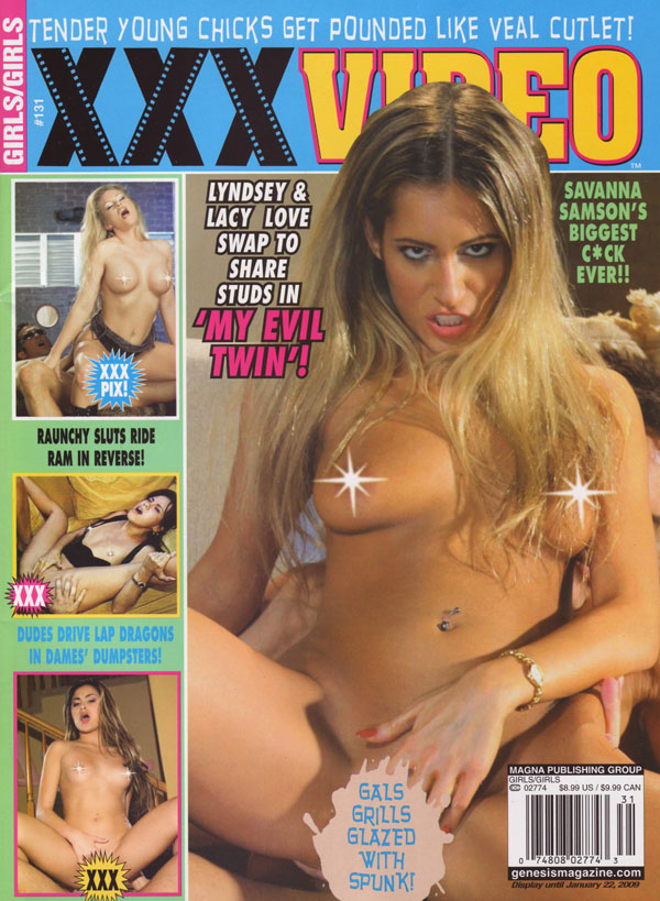 Girls/Girls # 131 - XXX Video magazine back issue Girls/Girls magizine back copy Biggest Cock ever SavannaSamson Lyndsey and lacy swap to share studs gals spunk dames' raunchysluts