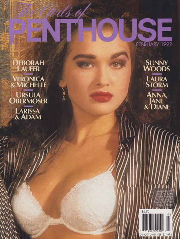 Girls Penthouse February 1992 magazine back issue Girls of Penthouse magizine back copy back issues of girls of penthouse magazine 1992 hot horny girl on girl pictorials tight pussy lesbos