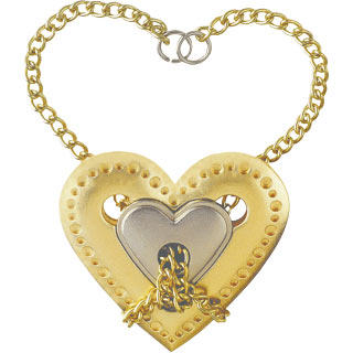 hanayama puzzles, metal puzzle by puzzlemaster, heart heart