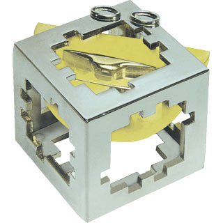 hanayama puzzles, metal puzzle by puzzlemaster, cuby cuby