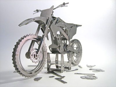 cast metal motorcycle 3d puzzle curvature cad design mx-450 cast-metal-motorcycle-3d-puzzle