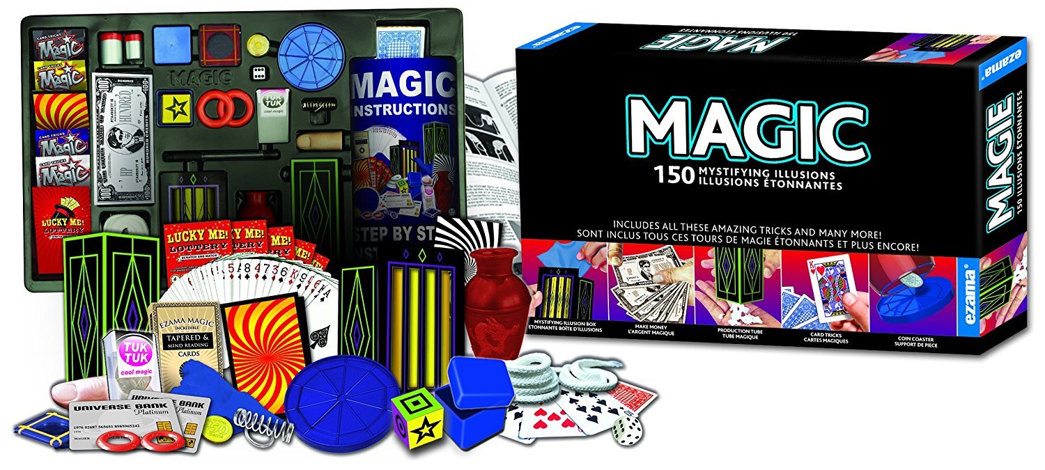 250 Magic Illusions, Made by Hanky Panky Toys. Easy step-by-step instruction booklet included 250-magic-illusions