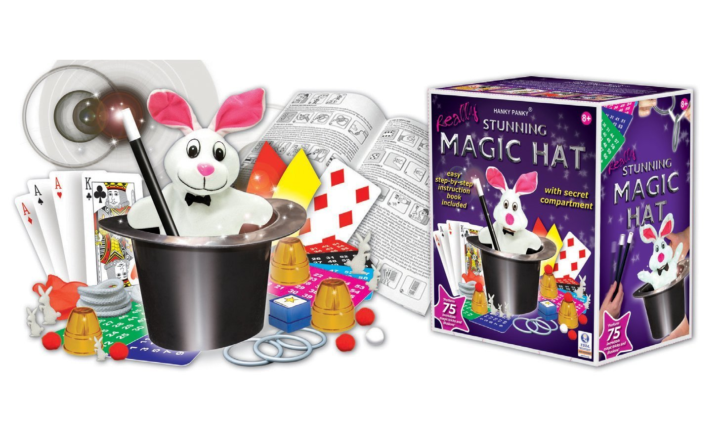 Stunning Magic Hat, Made by Hanky Panky Toys. Easy step-by-step instruction booklet included stunning-magic-hat