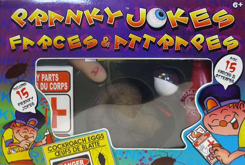Pranky Jokes, Made by Hank Panky Toys truly revolting magic pranky-jokes