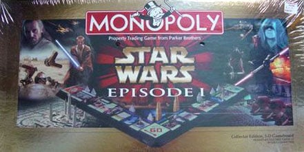 monopoly board game star wars episode 1 collectors edition a galaxy far far away hasbro boardgame monopoly-game-star-wars-episode-1