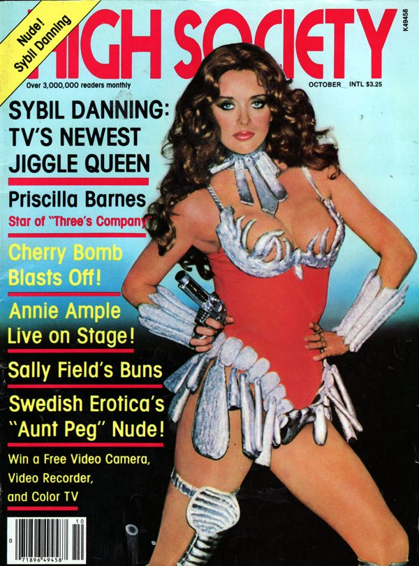High Society October 1981 magazine back issue High Society magizine back copy high society magazine back issues, hottest magazine in america, nude girls, sex photos, vintage 1981