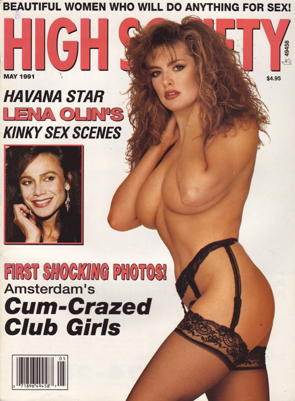 High Society May 1991 magazine back issue High Society magizine back copy hs magazine back issues xxx pix celeb porn mag nip slips ass shots explicit pussy pixxx sex stars na