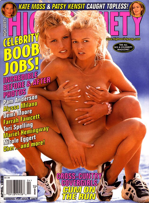 High Society April 1998 magazine back issue High Society magizine back copy High Society Back Issues, Americas Hottest Hardcore Magazine, April 1998, Toples Superstars, Pornsta