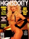 Amber Lynn magazine cover Appearances High Society November 1987