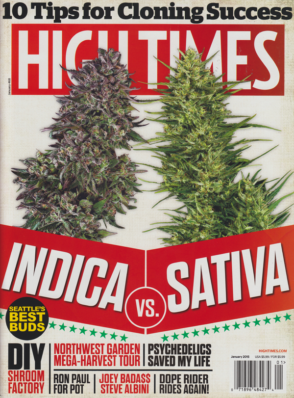 High Times January 2015 magazine back issue High Times magizine back copy