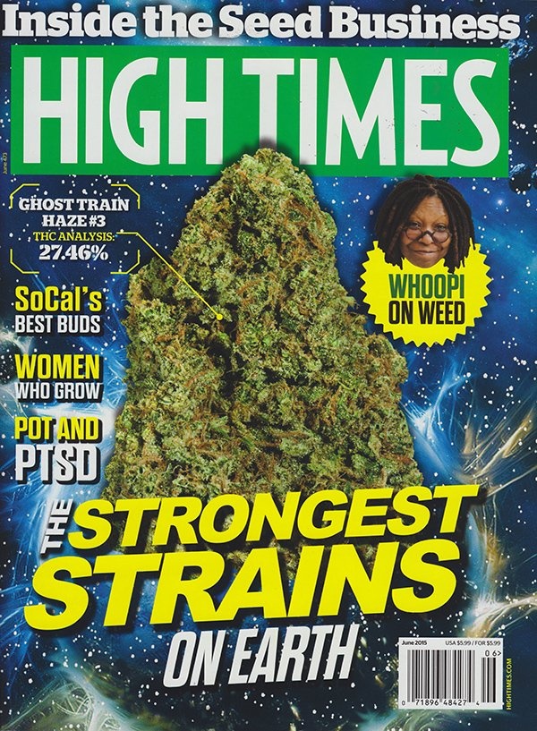 High Times June 2015 magazine back issue High Times magizine back copy