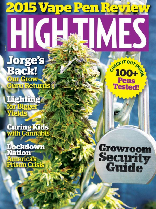 High Times July 2015 magazine back issue High Times magizine back copy