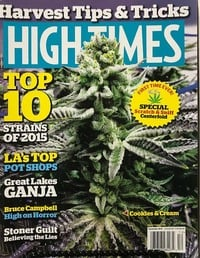 High Times December 2015 magazine back issue