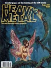 Esteban Maroto draws front cover artwork for illustrated magazine heavy metal Magazine Back Copies Magizines Mags