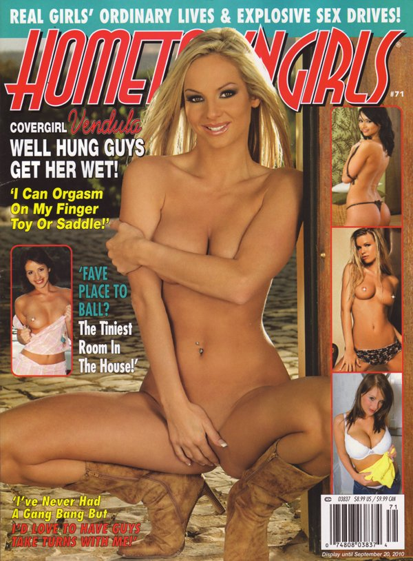 Hometown Girls # 71 - July 2010 magazine back issue Hometown Girls magizine back copy vendula wet orgasm finger toy saddle ball gang bang sex cum shower spray fantasy anal butt vibe
