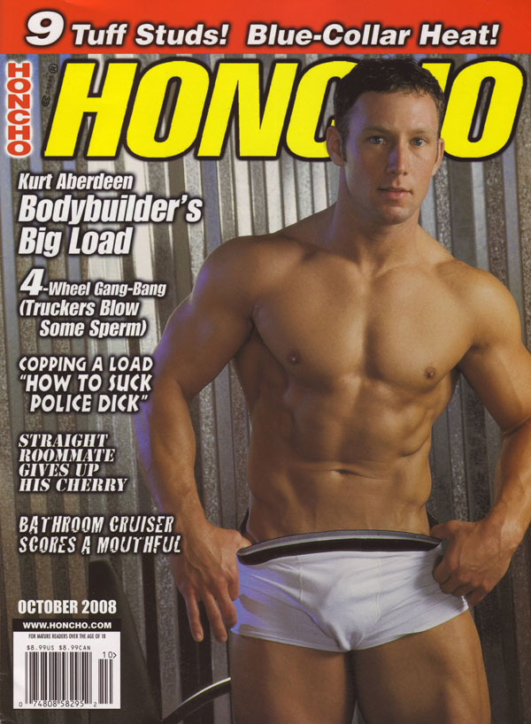 Honcho October 2008 magazine back issue Honcho magizine back copy honcho magazine hot nude men xxx gay porn mag big buff men with huge cocks throbbing dicks anal xxx