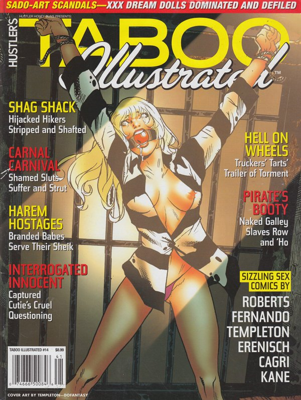 Honey Buns # 41 - Taboo Illustrated magazine back issue Hustler Honey Buns magizine back copy Taboo illustrated shag shack hijacked hikers striped shafted canal canival harem hostages interrogat
