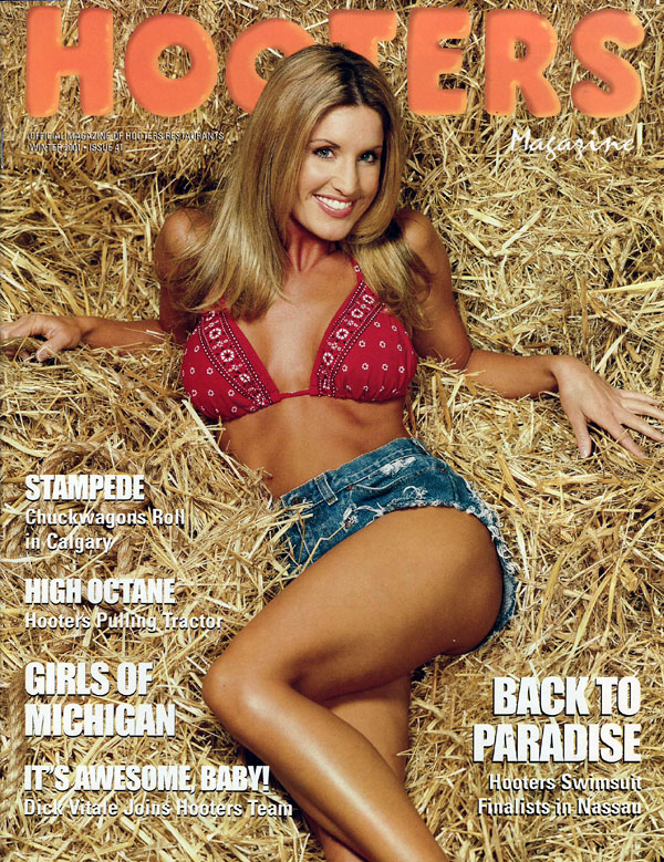 Hooters # 41 - Winter 2001 magazine back issue Hooters magizine back copy winter2001 hooters magazine, girls of nassau contest, nikki hooters feature girl, racing gold update