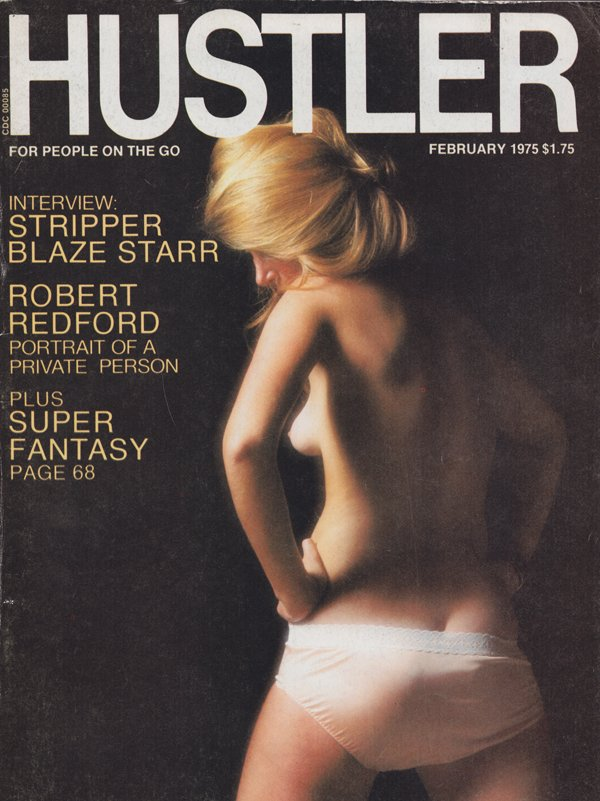 Hustler February 1975 magazine back issue Hustler magizine back copy Robert Redford,THE MORGAN,PORN REVIEW,X-rated,Pubescent Pictorial,ADOLESCENT FANTASY