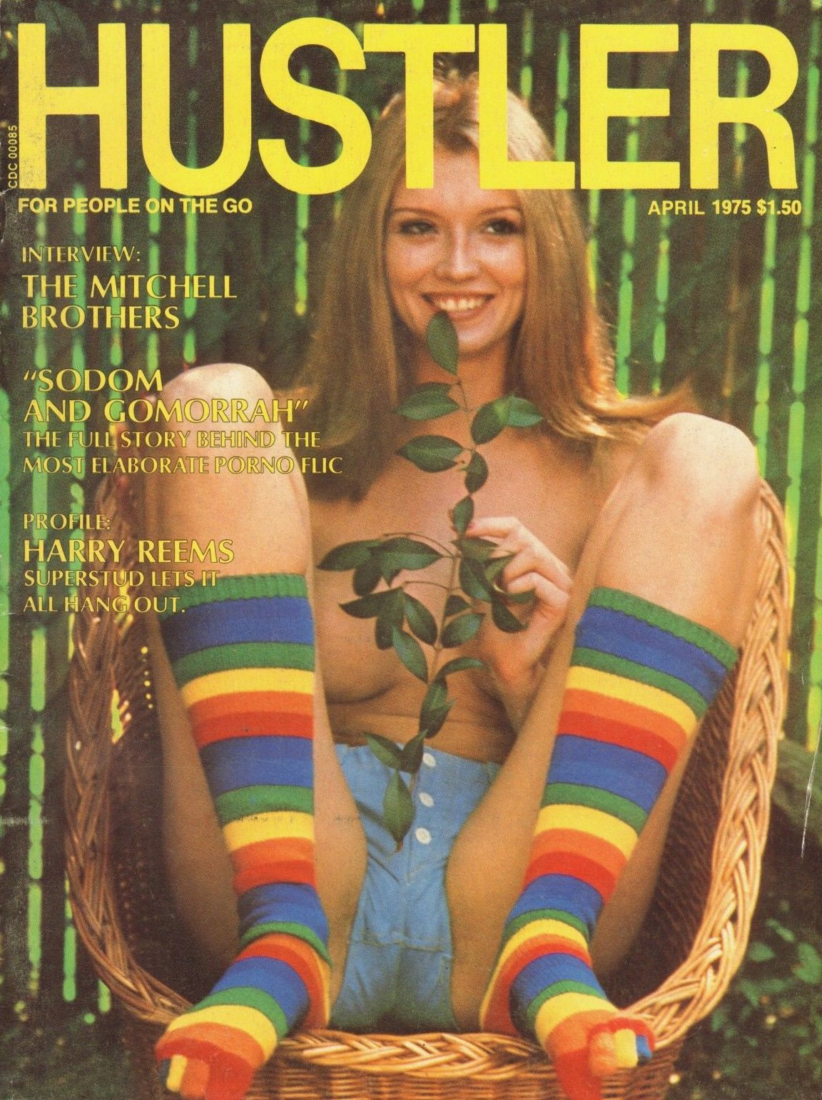 Hustler April 1975 magazine back issue Hustler magizine back copy hustler magazine back issues, amazing ladies nude, star interviews, adult comics, larry flynt,  1975
