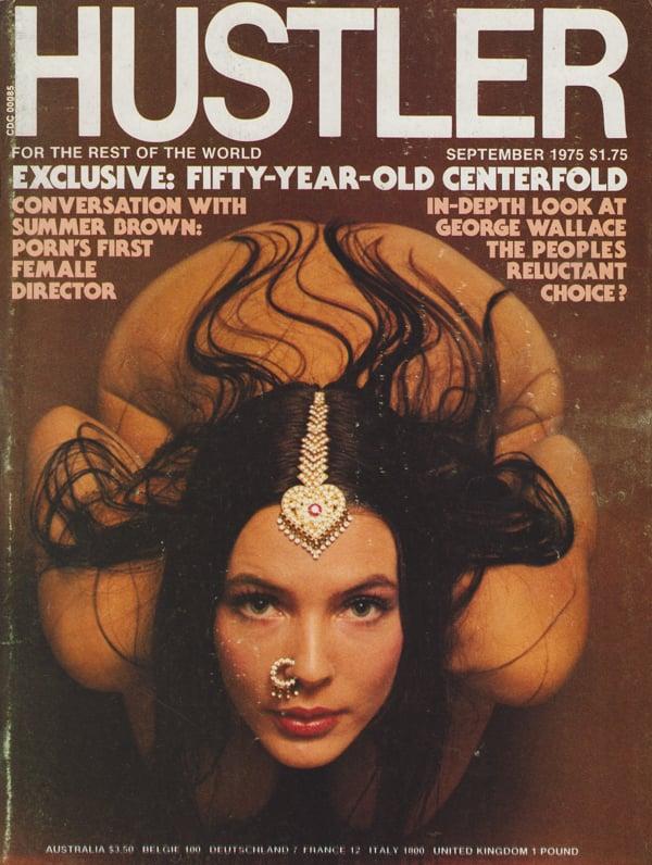 Hustler September 1975 magazine back issue Hustler magizine back copy